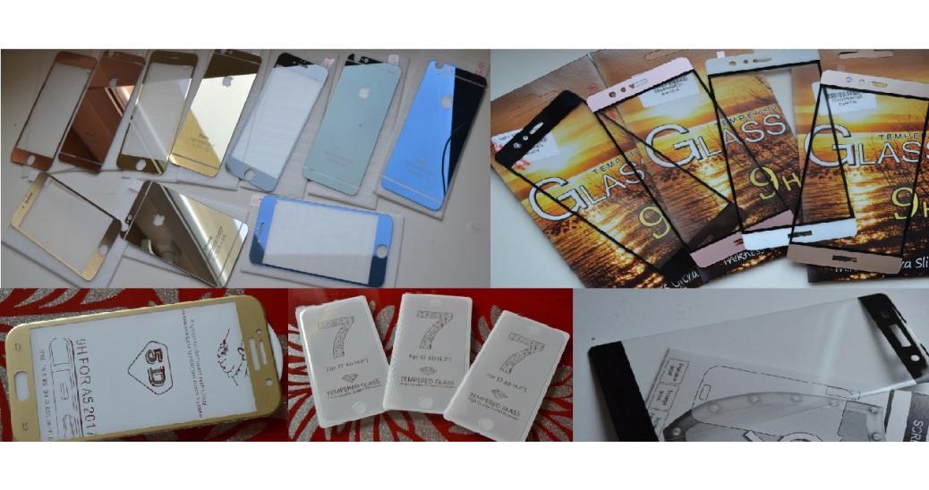 Įvairios ekrano apsaugos - stiklai, lenkti stiklai, stiklai su geliu, plėvelės