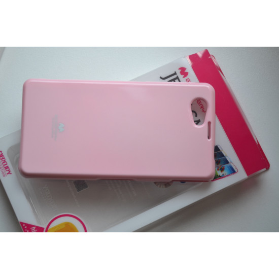 timeless design 884c1 6fe4b Sony Xperia Z1 Compact D5503 dėklas, Mercury Jelly Case, light pink